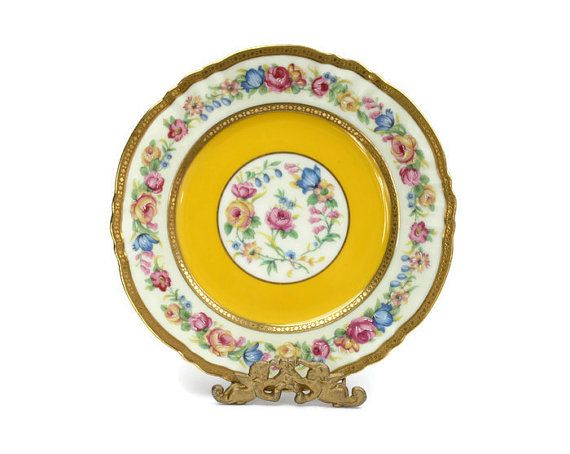 SOLD. Antique French Limoges Plate / Ahrenfeldt ♥ | Shop PeriodElegance's Fine China, www.PeriodElegance.etsy.com