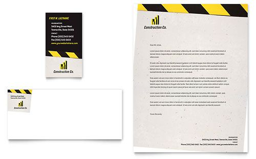 Free Professional construction Letterhead Templates Letterheads - free business letterhead templates download