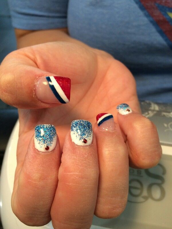 French flag nails. Happy Bastille Day!   French tour nails ...