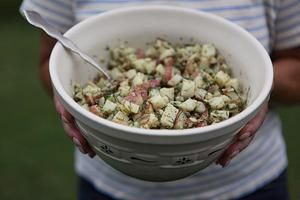 15 recipes for outdoor dining this summer - Roasted potato salad with a mustard-dill vinaigrette - CSMonitor.com