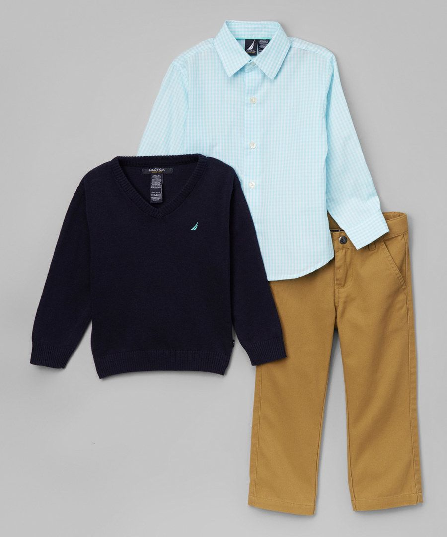 Look at this Nautica Sport Navy V-Neck Sweater Set - Boys on ...