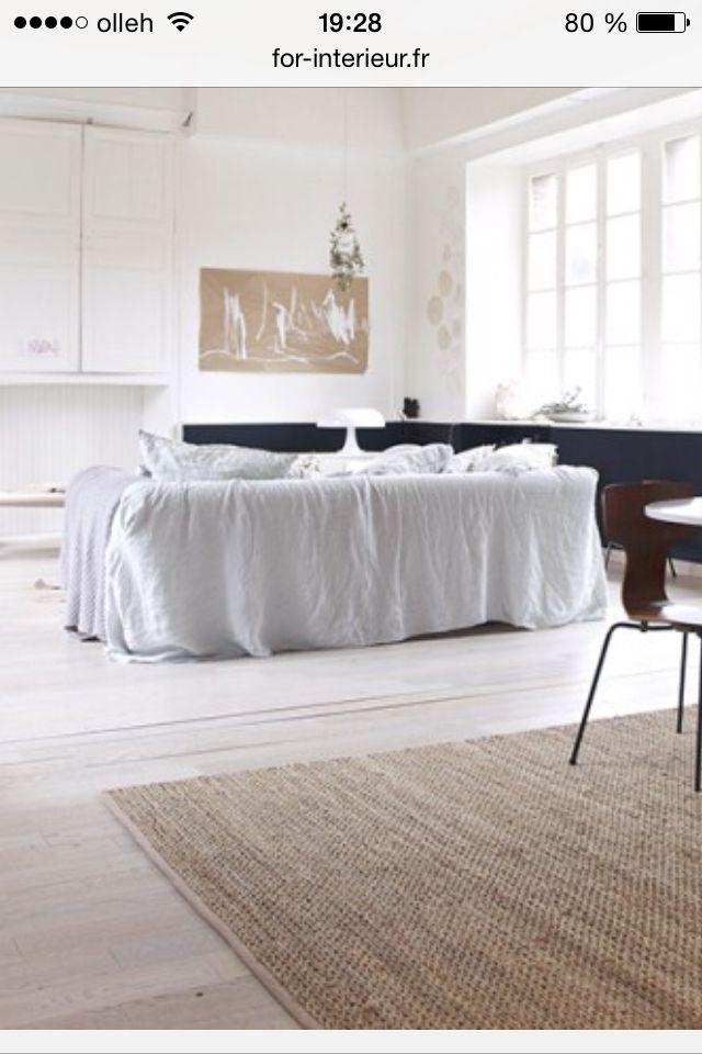 drap lin sur canape salon pinterest drap lin drap et canap s. Black Bedroom Furniture Sets. Home Design Ideas