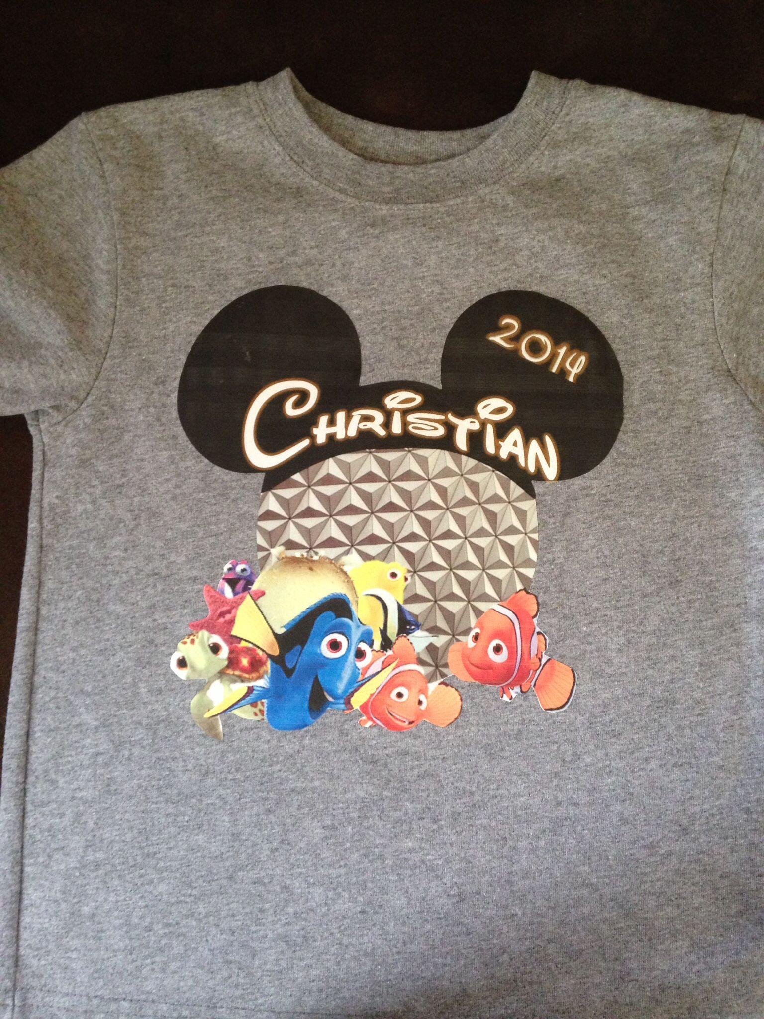 Disney family Epcot Nemo shirts