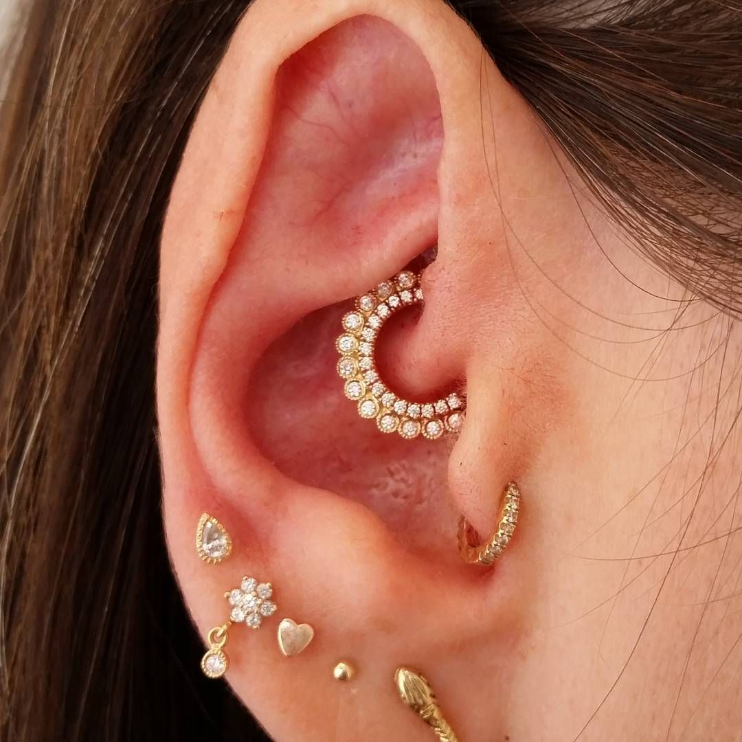 Beautiful Emblage Of Maria Tash Earrings