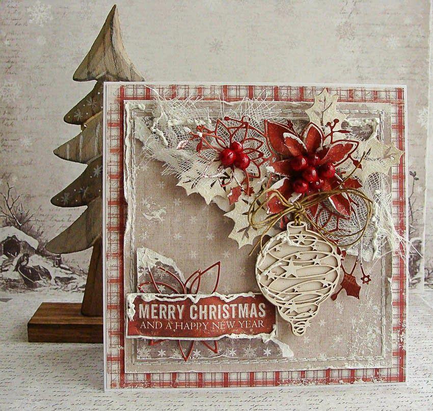 Открытки в стиле скрапбукинг на новый год и рождество