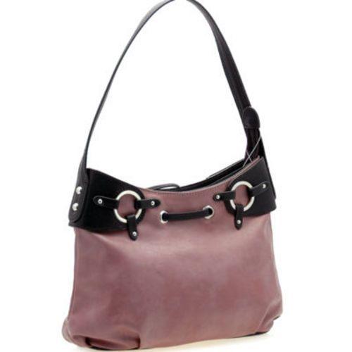 Women Inspired handbag shoulder bag plum pink