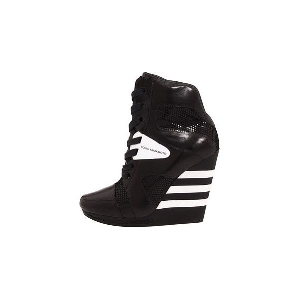 25b565fdf Adidas Y-3 by Yohji Yamamoto Y-3 Cushion Wedge Shoes ❤ liked on Polyvore  featuring shoes