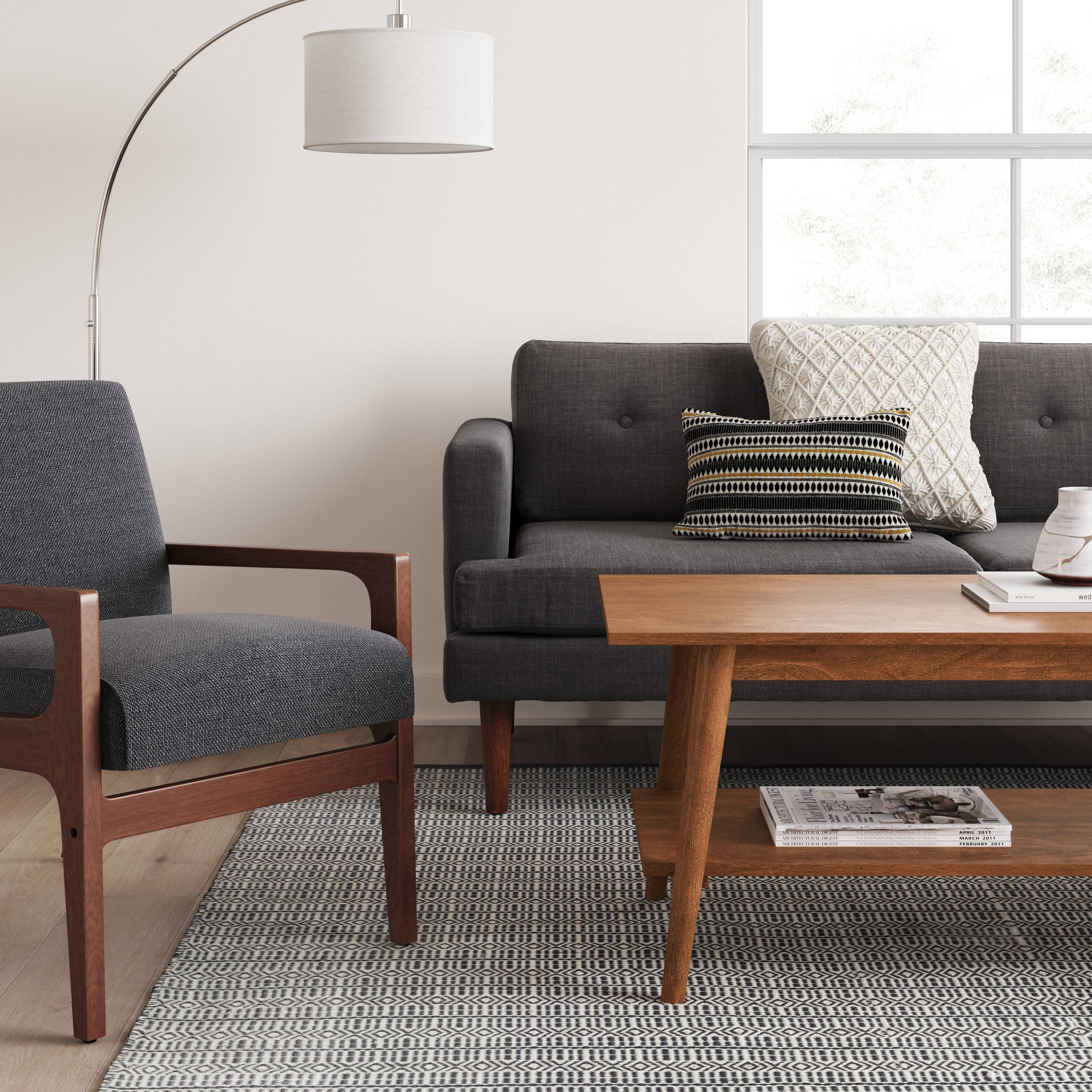 - Amherst Mid Century Modern Coffee Table Brown - Project 62™ Mid