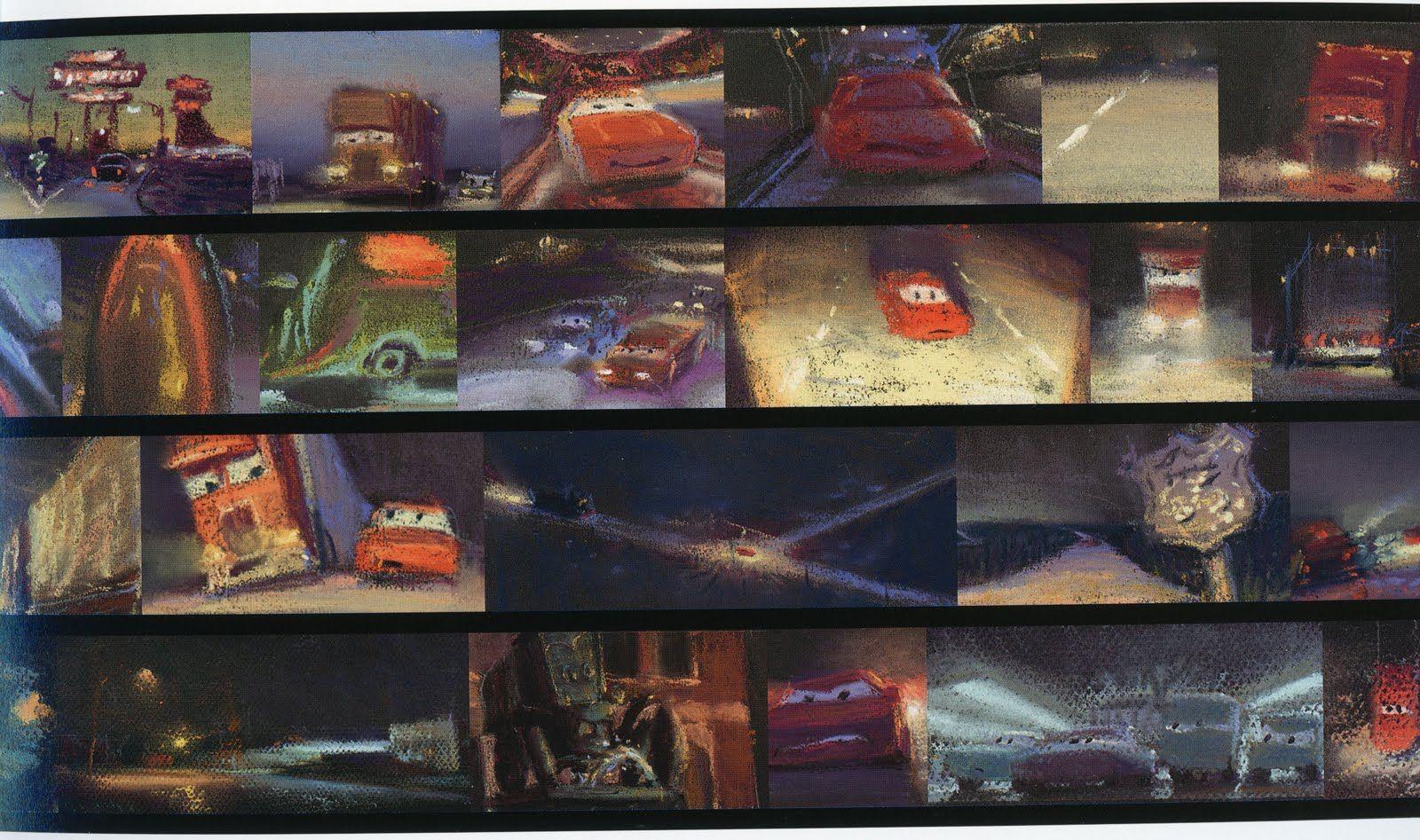 """""""Cars"""", Pixar. Color Script"""