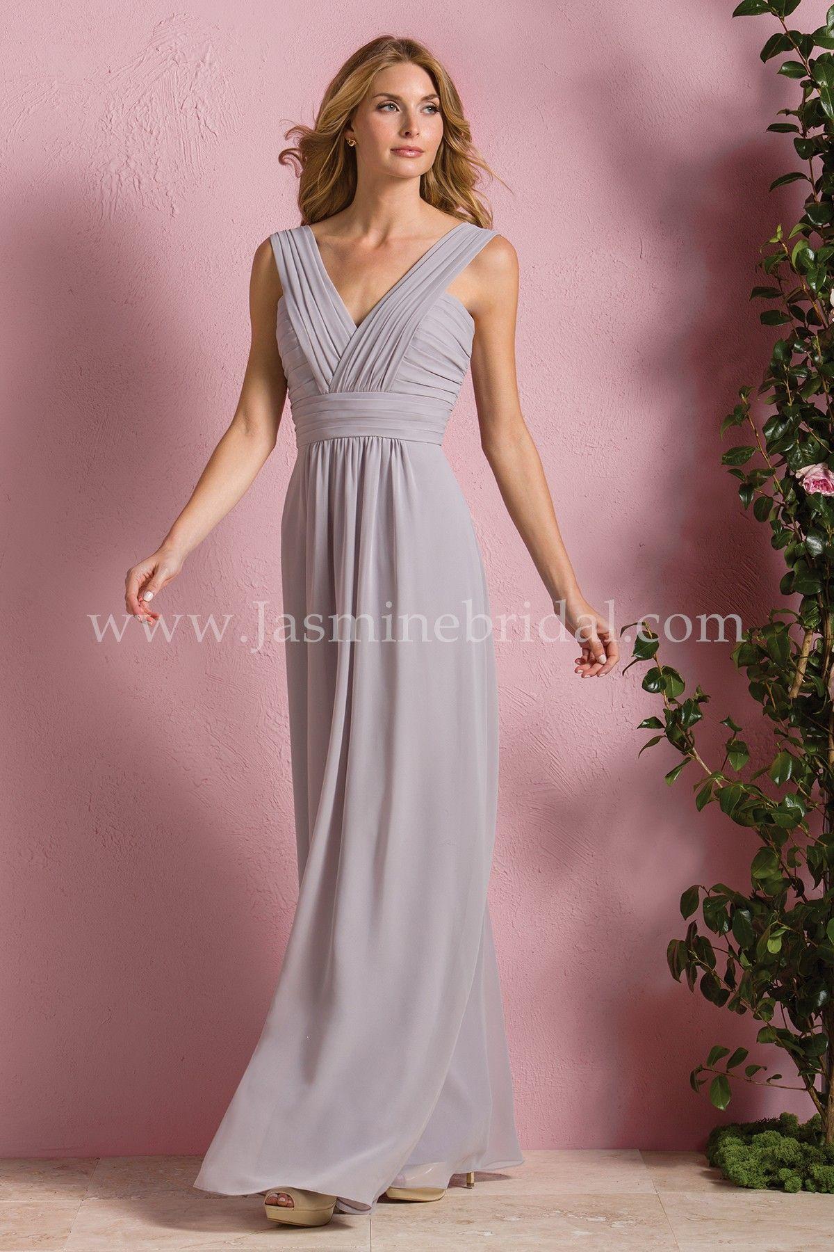 Jasmine Bridal Bridesmaid Dress B2 Style B173054 In Graphite A Simple That Can Make Splash At Any Wedding