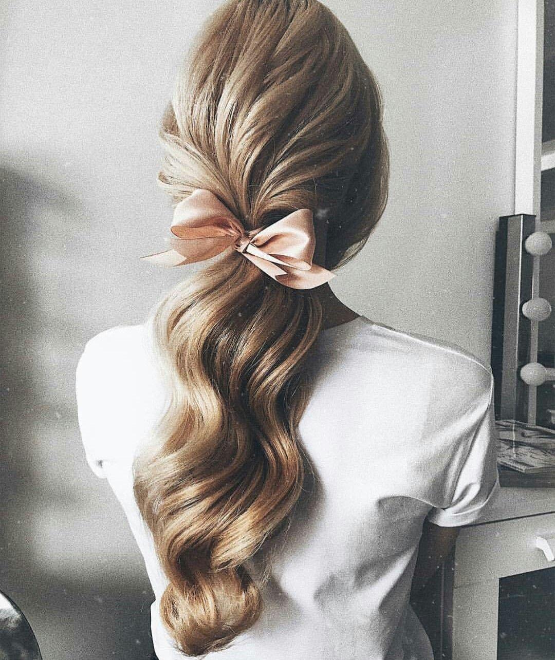 beautiful waves loose ponytail | hairstyles | hair, long