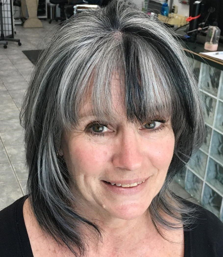 40++ Hairstyles for gray hair with bangs trends