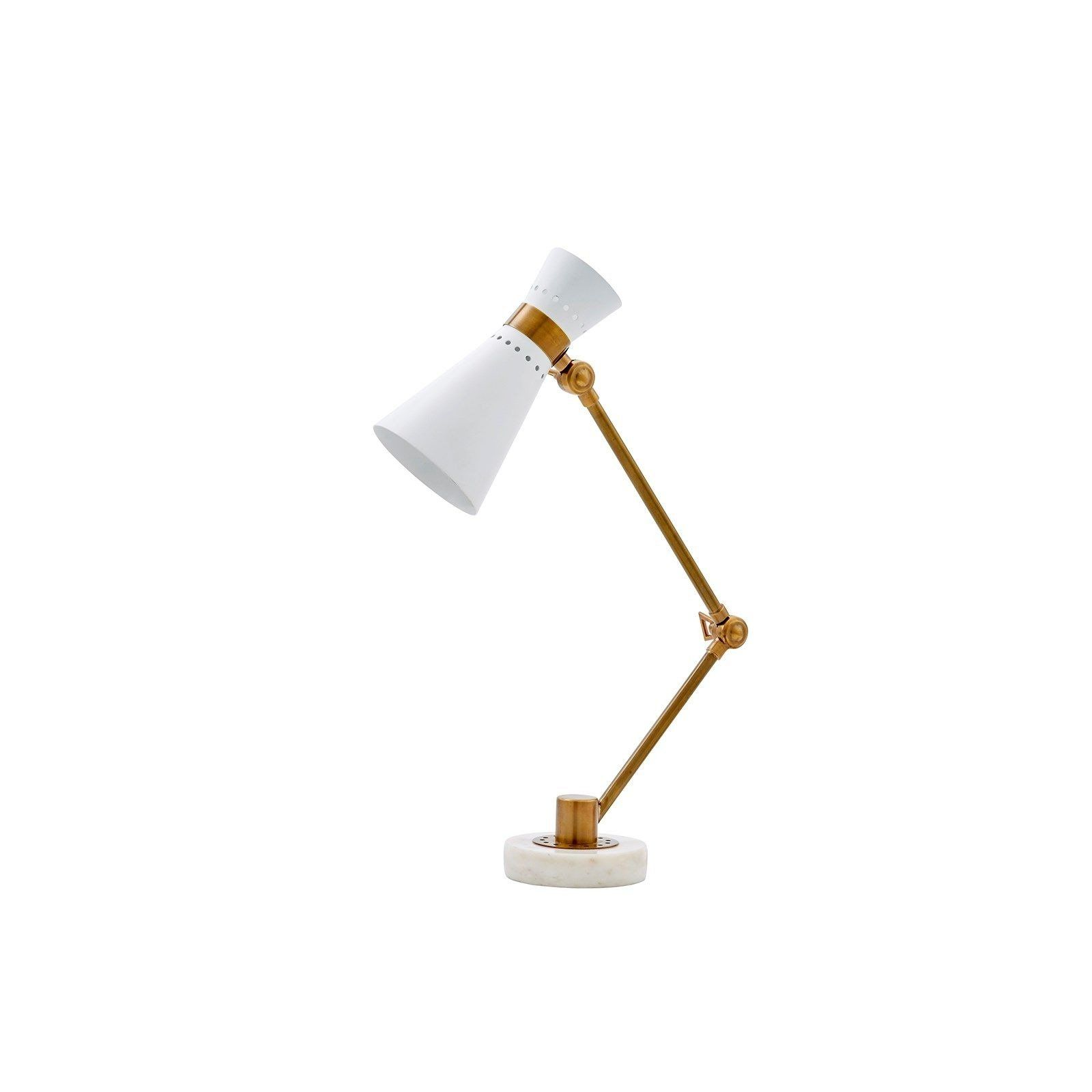 The Clipper Table Lamp In White From Bungalow 5 Features A Perforated Shade Allowing Some Light To Escape For An Enchanting Vi In 2020 Table Lamp Lamp White Table Lamp