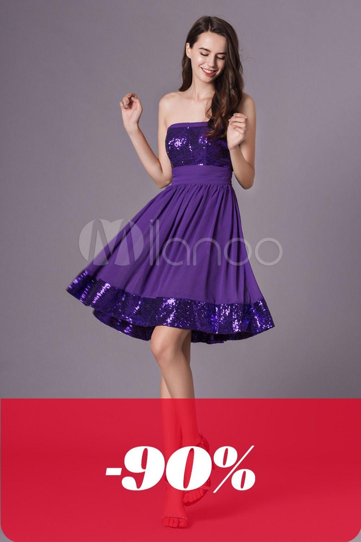 Mit pailletten kürzen kleid Kurzarm Kleid