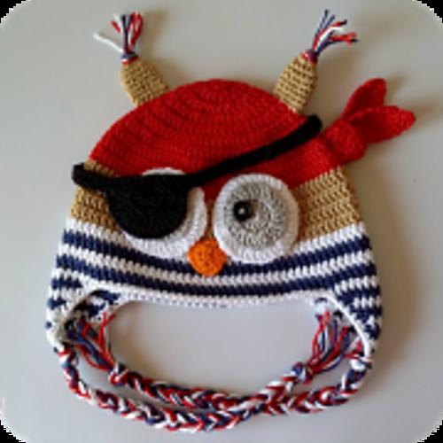 Patrón Gorro Búho Pirata a Crochet para nenes de 2 años.   babies ...