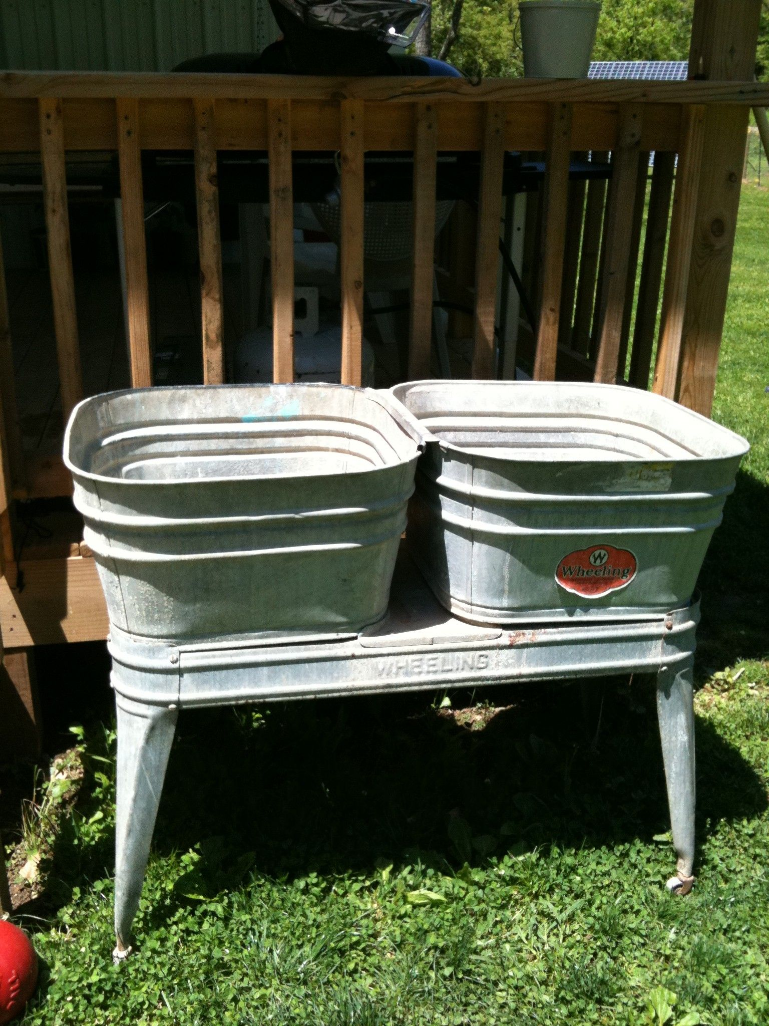 product wash country with chairish stand tub galvanized vintage double basin celina