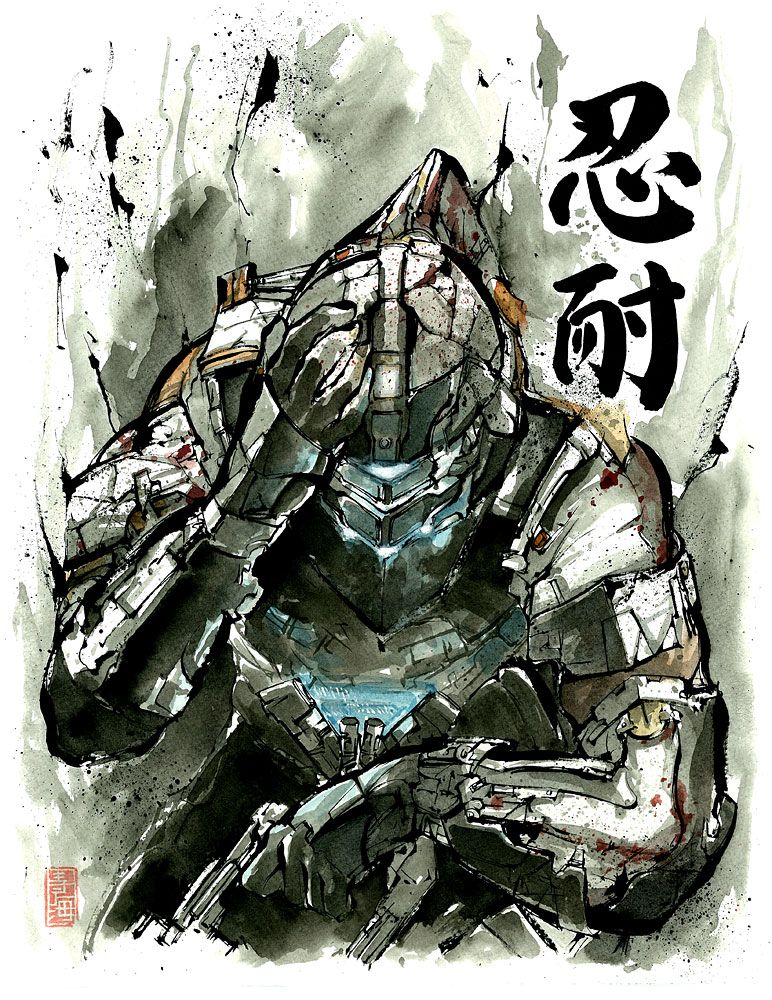 Dead Space Sumie Style by MyCKs on deviantART