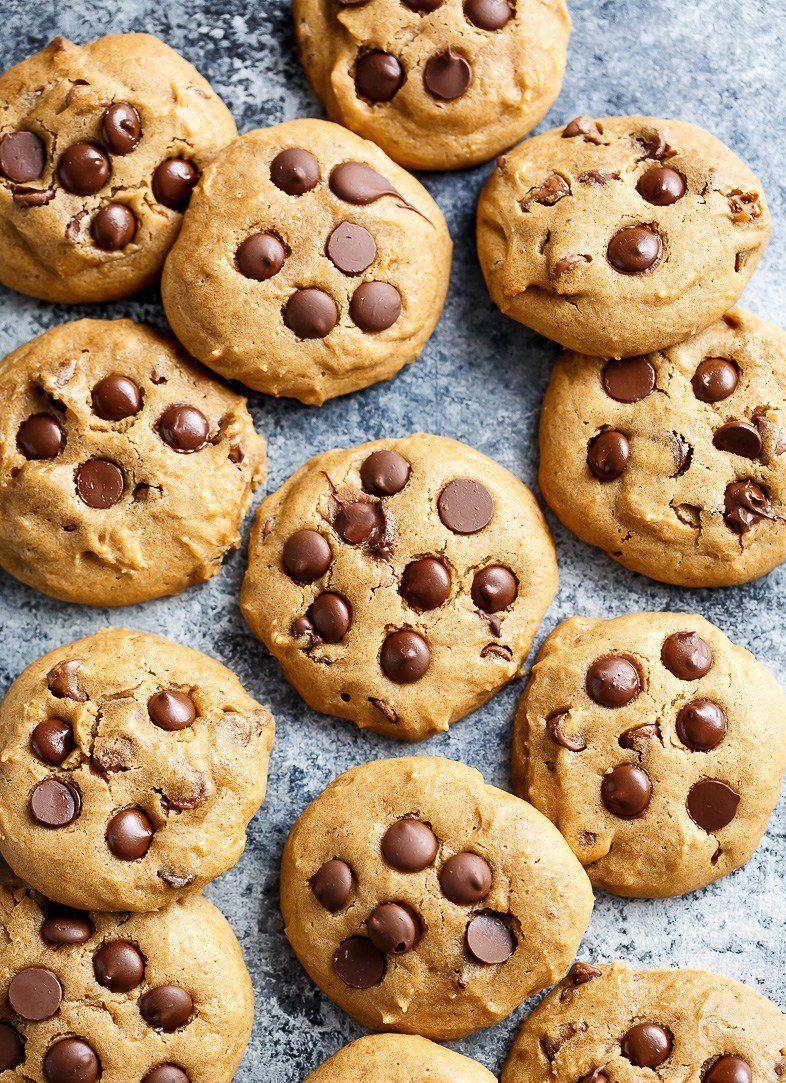 SOFT PUMPKIN CHOCOLATE CHIP COOKIES http://recipes-only.com/soft-pumpkin-chocolate-chip-cookies/