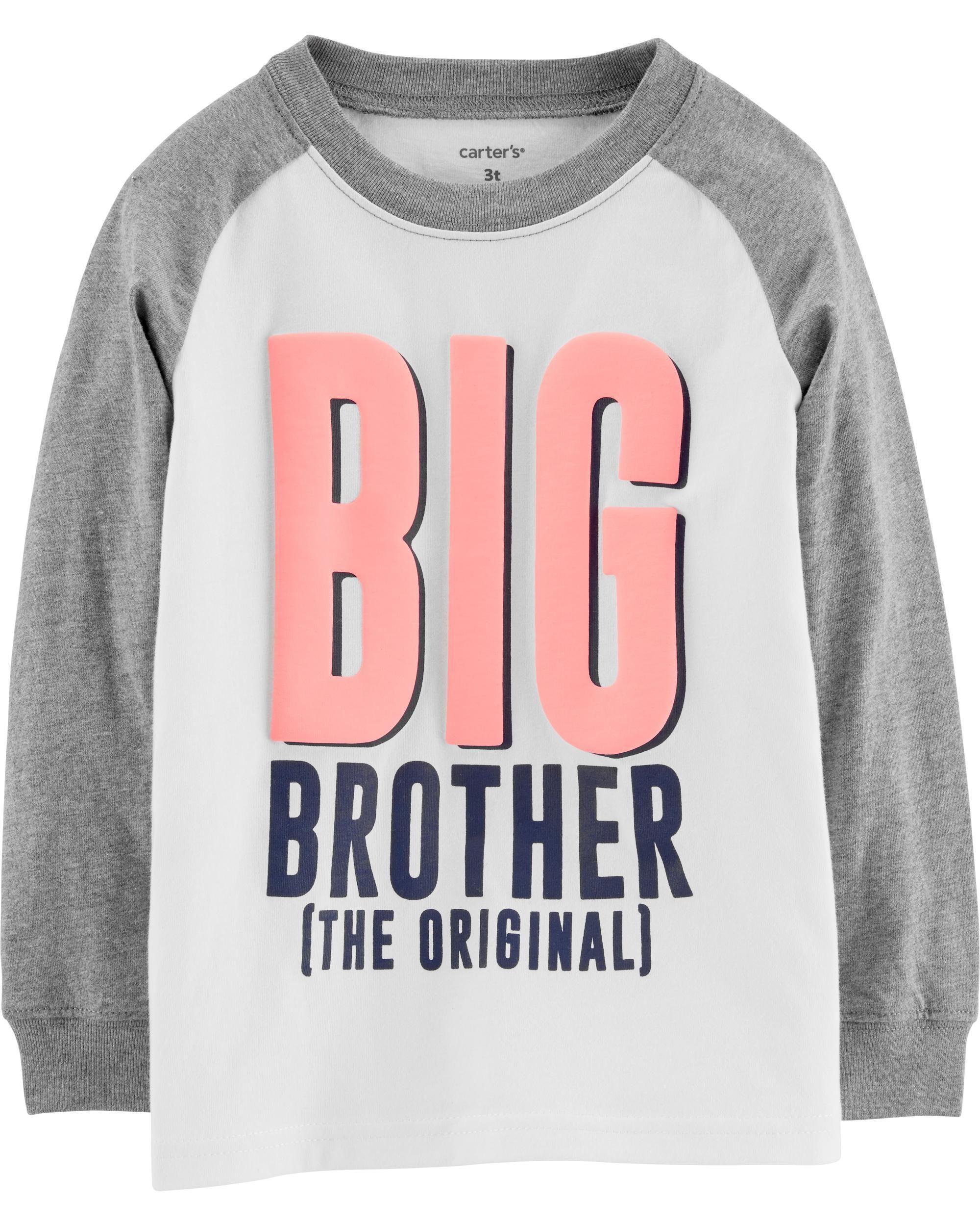 fc168e61d51 Toddler Boy Big Brother Raglan Jersey Tee