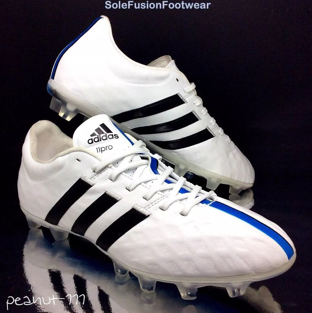 new styles 7d0b7 ab4c8 adidas 11pro mens Football Boots White Blue size 8 FG Soccer Cleats US 8.5  EU 42   eBay