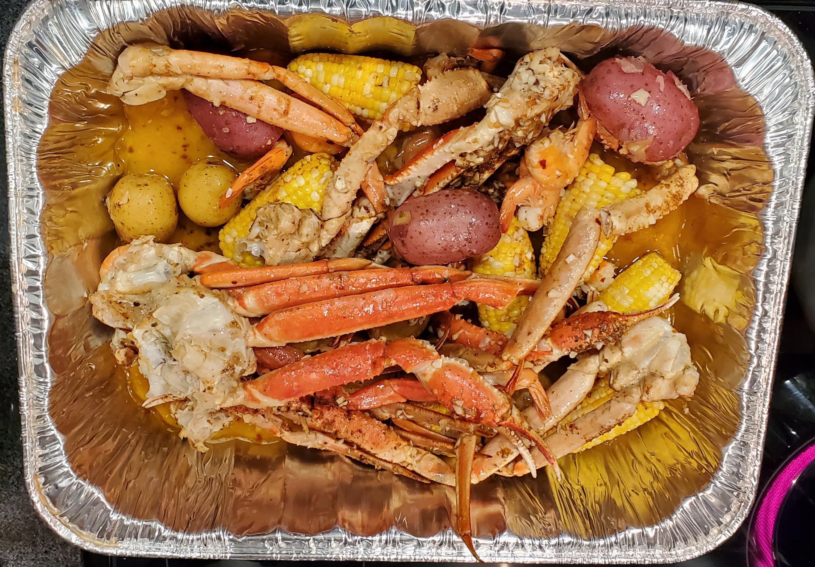 [Homemade] Cajun seafood boil #food #foods #seafoodboil