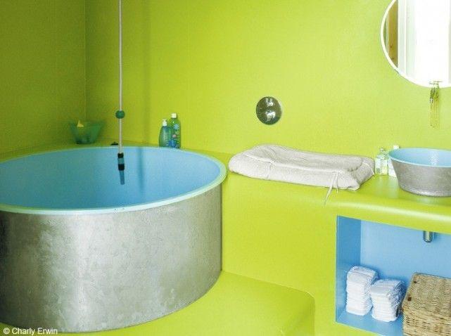 La baignoire se fait toute petite. #deco #sallede bain #baignoire ...