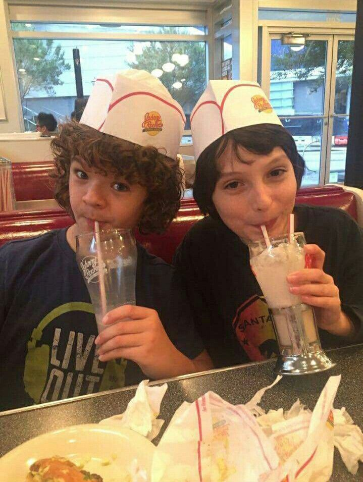 Dustin and Michael at Johnny rockets