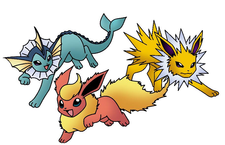 Jolteon Flareon Y Vaporeon By Thunderwest On Deviantart Pokemon Pokemon Go Eevee