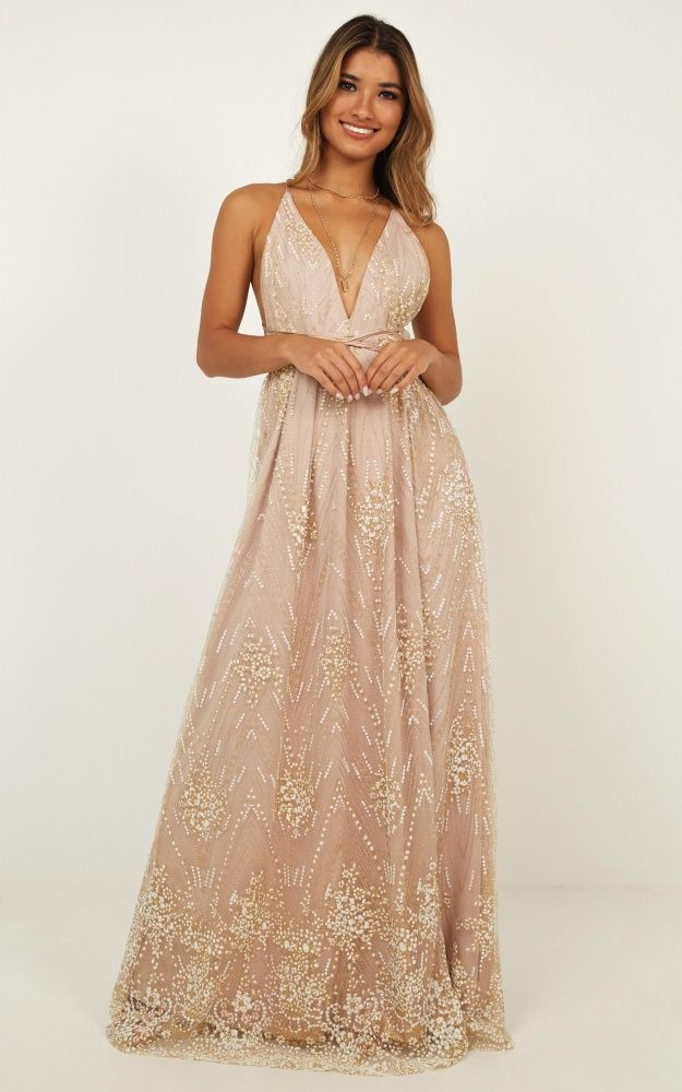 cc20179908 New York Nights Maxi Dress In Gold Produced in 2019 | ringdance ...