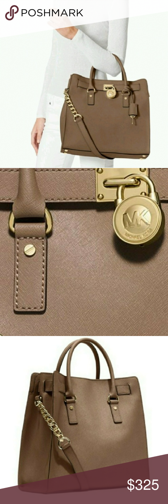 52829e25a136 🆕⭐Leather Michael Kors Large Hamilton bag Brand New with tags from Macy s.  Color