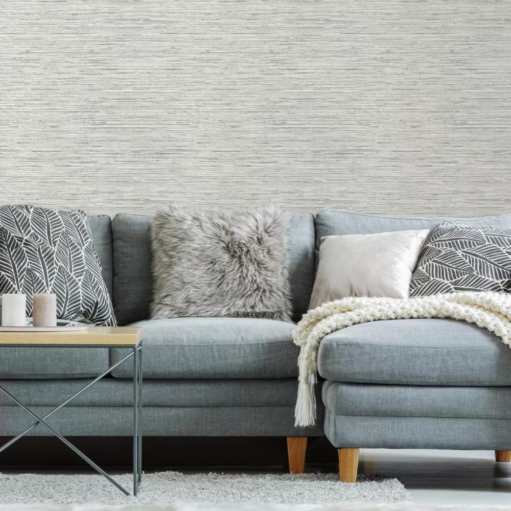 Roommates Grasscloth Peel Stick Wallpaper Gray Grasscloth Textured Wallpaper Peel And Stick Wallpaper