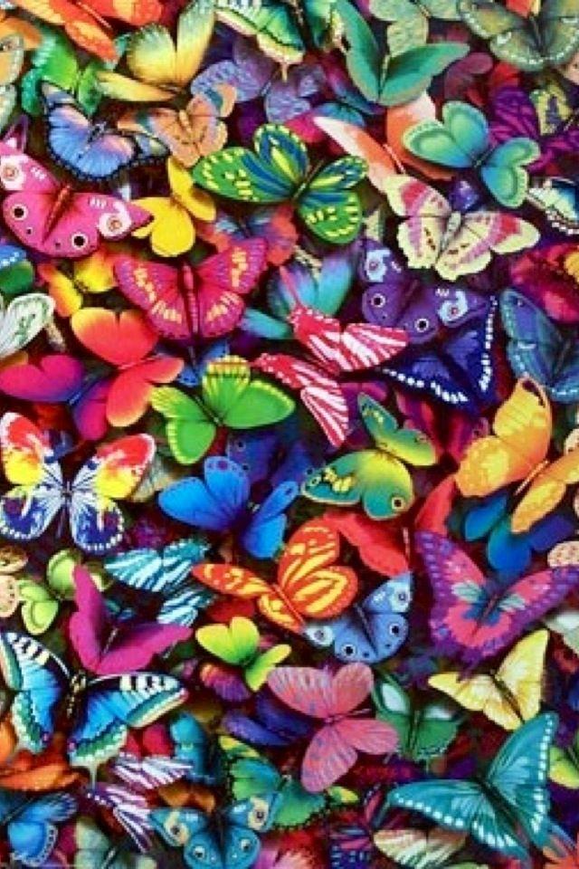 iPhone Wallpaper - Rainbow tjn | Butterfly art, Beautiful ...