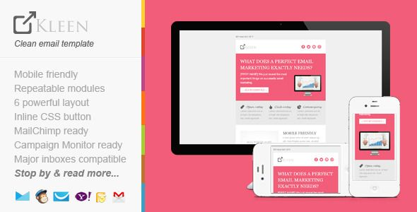 responsive modern email template kleen email templates