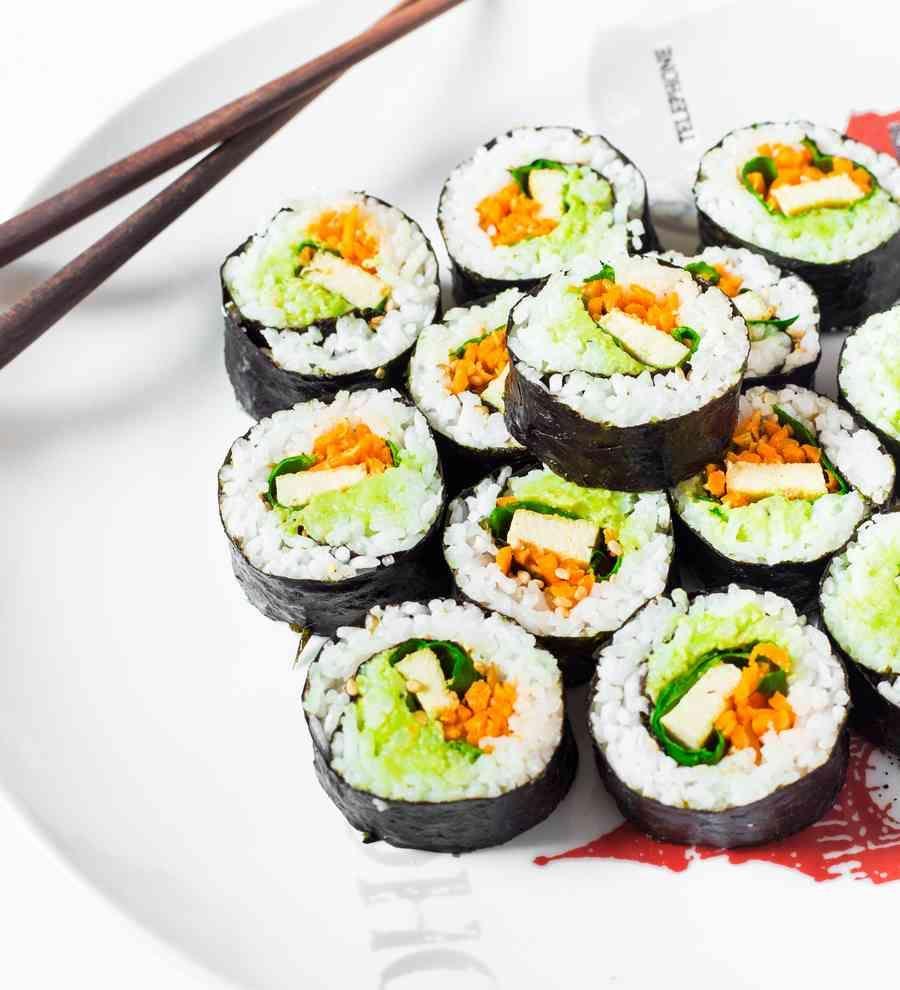 Easy Vegan Sushi Rolls GlutenFree Recipe Homemade