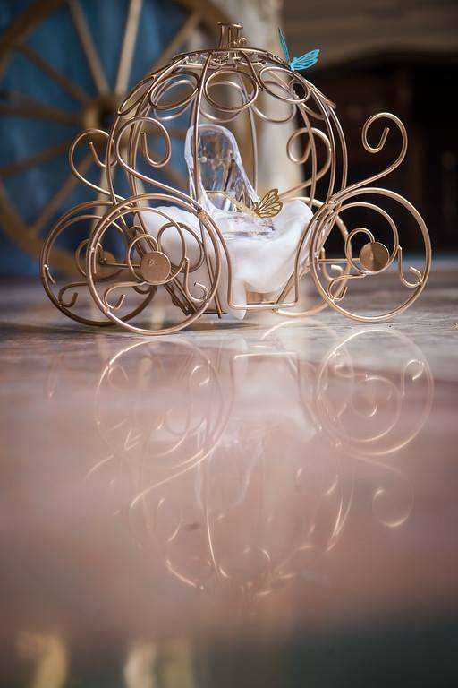 Pretty centerpiece at a Cinderella birthday party! See more party ideas at CatchMyParty.com!