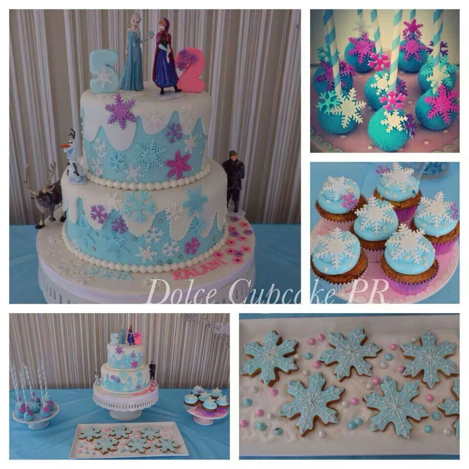 Frozen birthday party decorations ideas  Frozen by Dolce Cupcakes PR  Cakes u Cupcakes  Pinterest  Cake