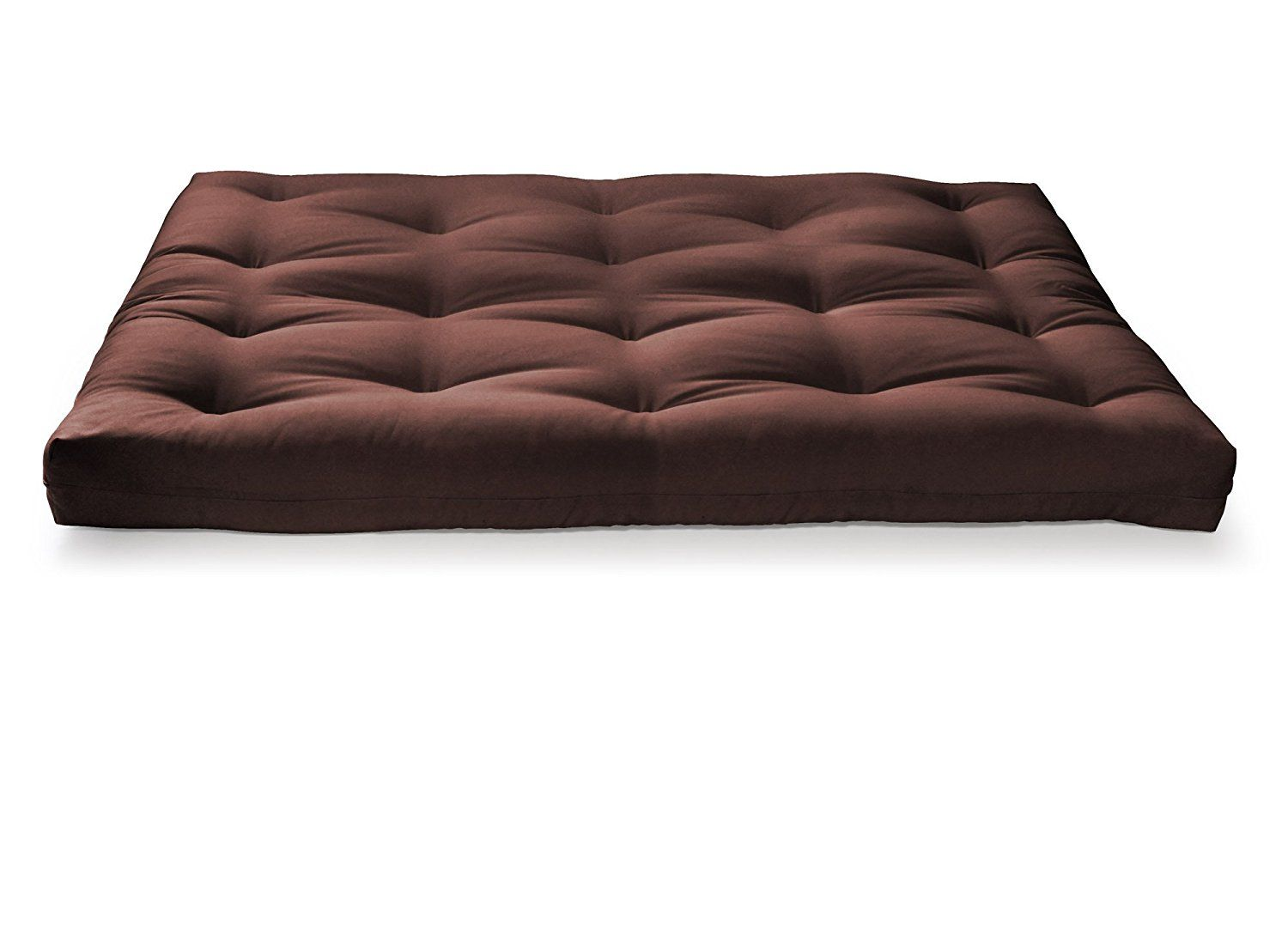 Amazon.com: Artiva USA Home Deluxe 8-Inch Futon Sofa Mattress Made in US Best Quality, Full, Solid, Espresso/ Brown: Kitchen & Dining