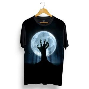 2639258ce Camiseta Insane 10 Zumbi Levantando do Tumulo Full Print Preta Marrom