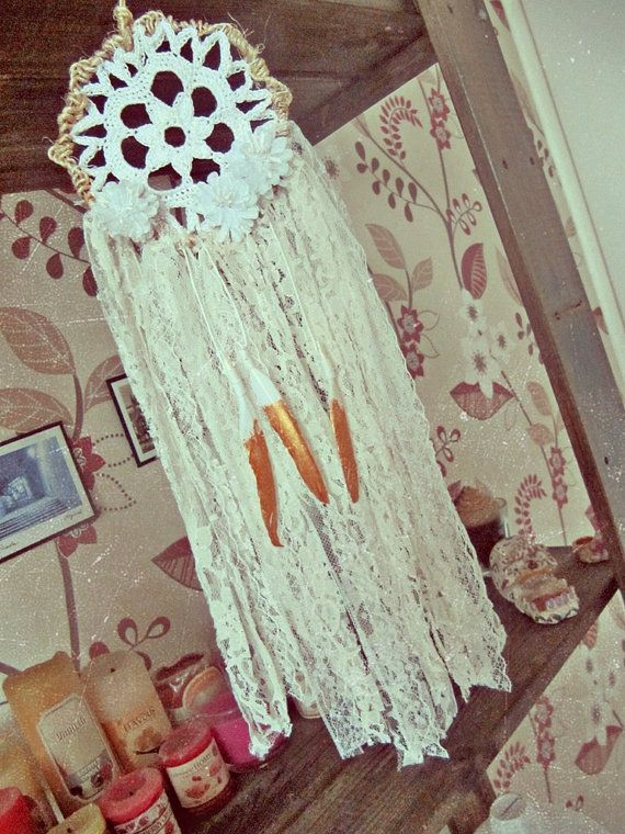 Boho Chic Dream Flower Small Dream Catcher Handmade Of Metal Hoop