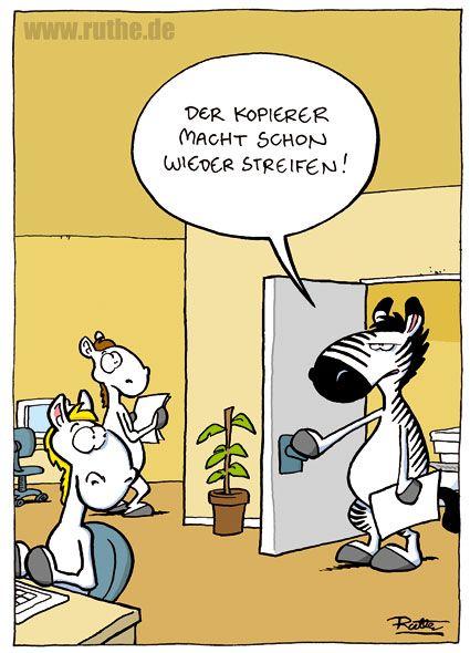 Buro Pferde Kopierer Zebra Streifen Favoriten Funny Humor Und
