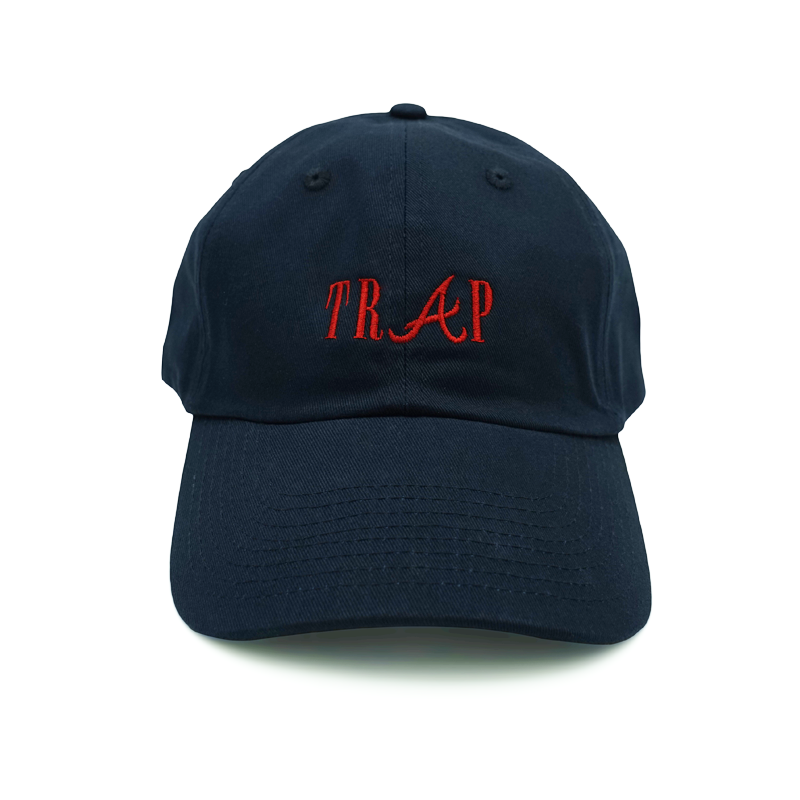 4c4efcf0f0b Trap Dad Hat - Relaxed adjustable hat - Trap embroidered on the front - 6- panel - Solid colorway - 100% cotton