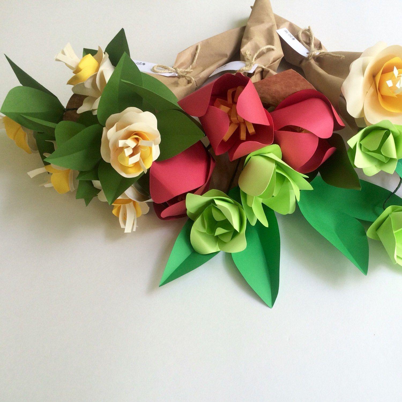 Paper Succulent Bouquet Paper Flower Bouquet Paper Bouquet
