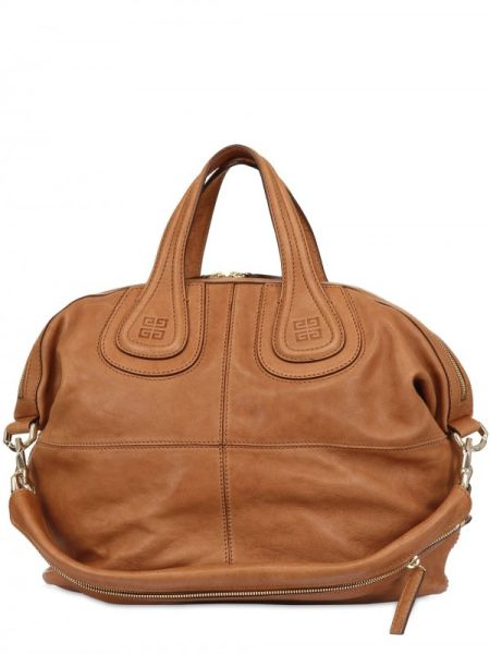 Givenchy Brown Nightingale Medium Smooth Top Handle - mine has silver studs  around the top e7b262594cb0b