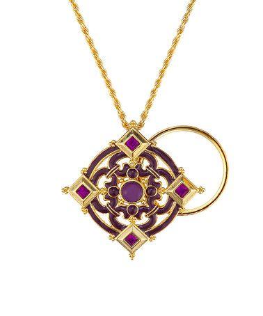 Look what I found on #zulily! Purple & Gold Divine Magnifier Necklace #zulilyfinds