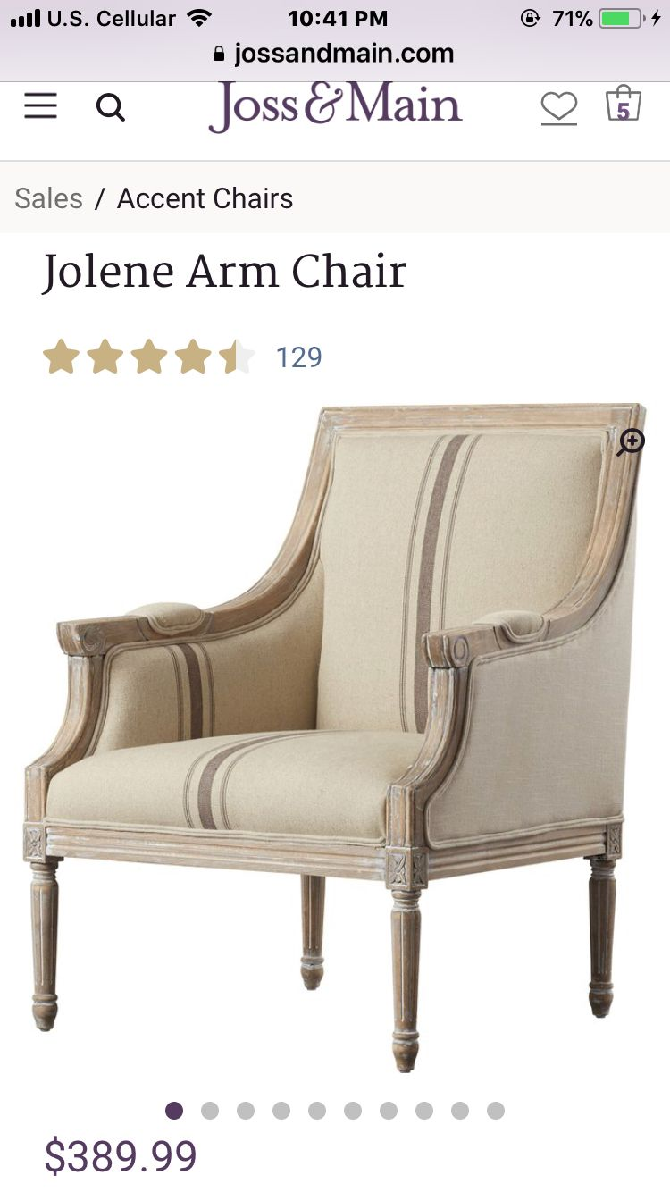 Accent Chairs, Furniture, Wingback Chair, Armchair, Home Decor, French  Country,