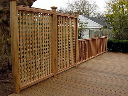 Image Result For Deck Privacy Fence Wall Screen Railing
