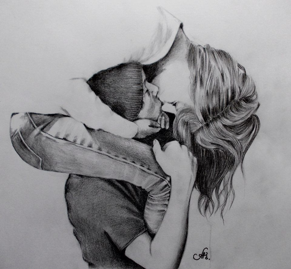 Cute couple drawing in 2019 | Love drawings, Cute couple ...