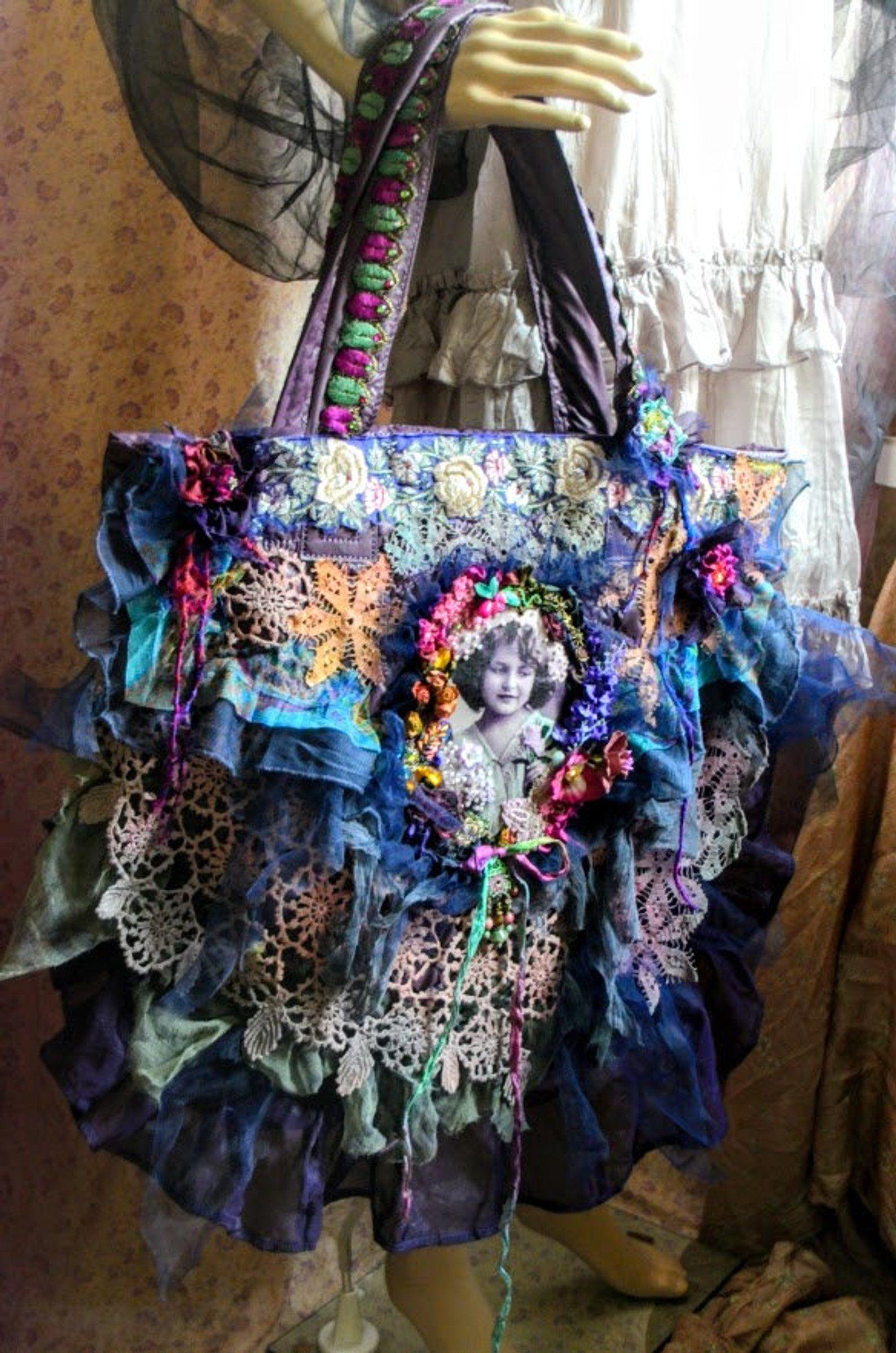 Vintage Style Bohemian Large Beaded Embellished Crossbody Messenger Bag