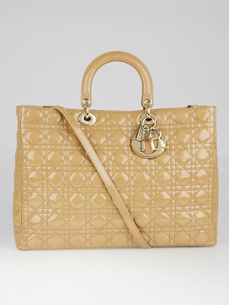 cc2001275cd4 This Christian Dior Lady Dior Cannage bag is the one for you! This  structured bag is made of quilted patent leather ...