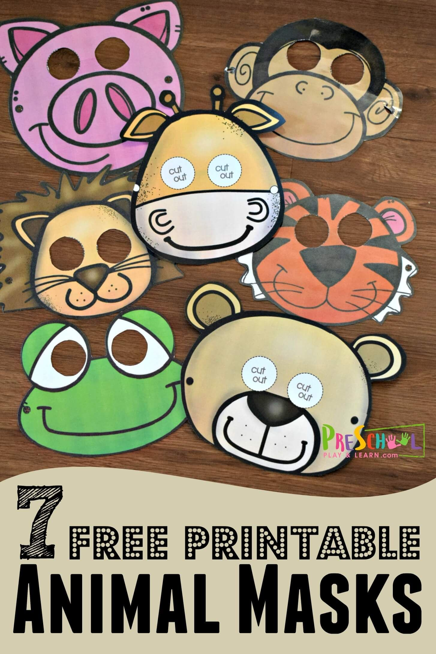 Printable Animal Masks Are Such A Fun Zoo Theme Kids